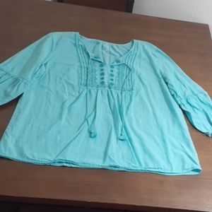 St. John's bay soft tunic with mid sleeves